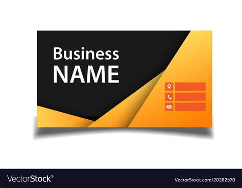business card orange  black background  vector image