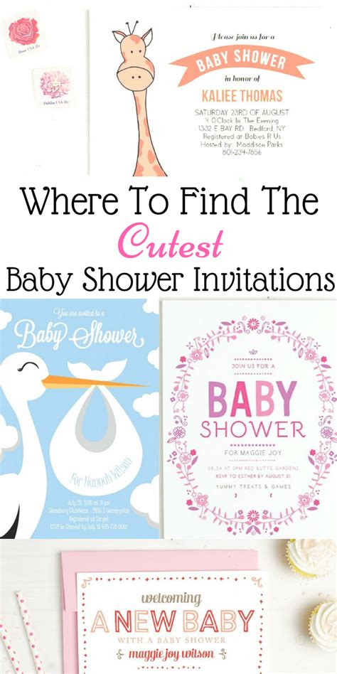 find  cutest baby shower invitations