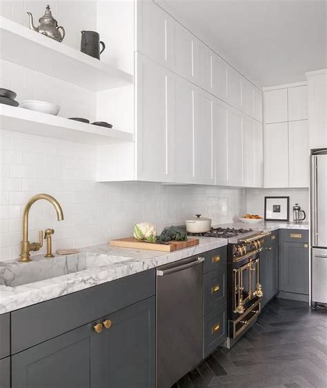 kitchen design styles white cabinets and gray lower cabinets kitchens 1371
