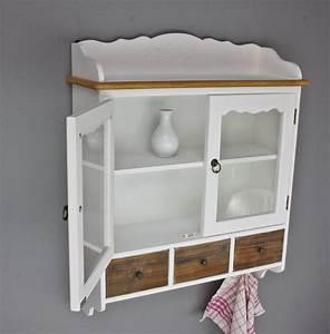 Regal Weiß Landhaus : wandschrank mit glast ren wandregal wei holz shabby landhaus regal 3 schubladen ebay ~ Orissabook.com Haus und Dekorationen