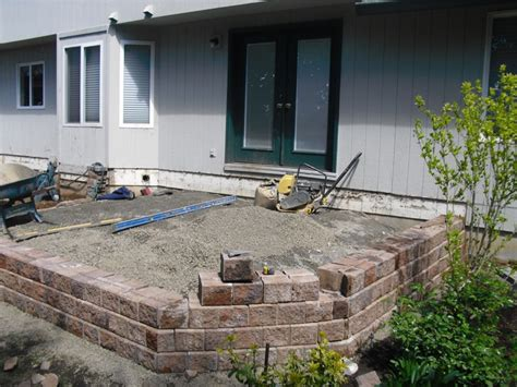 compacting patio pavers images