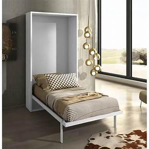 Armoire Lit Escamotable JOY Chne Blanc 90x200 Achat