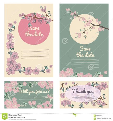 10 best cards cherry blossom set of flowering drown cherry blossom card vintage
