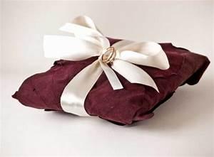 burgundy claret wedding ring pillow ring holder pillow With wedding ring holder pillow