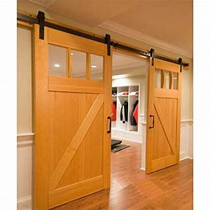 compare price heavy duty barn door hardware on With barn door kits for sale