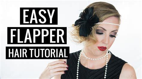 Easy 20s Hairstyles Hair by Easy Hair Tutorial 1920s Flapper