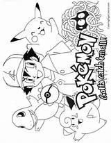 Pokemon Coloring Printable Colorear sketch template