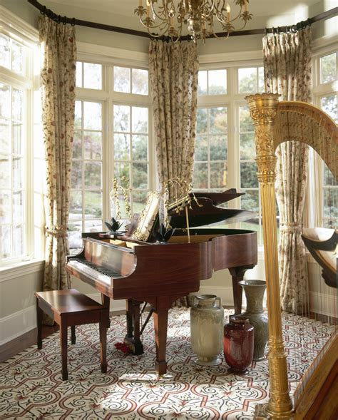 bay window curtains family room contemporary with floor