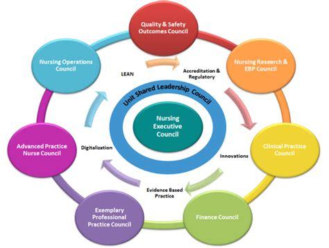 shared nursing leadership leadership hospital