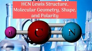 Hcn Lewis Structure  Molecular Geometry  Shape  And Polarity
