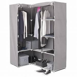 Armoire D Angle Chambre : armoire d 39 angle ana gris meuble de chambre eminza ~ Melissatoandfro.com Idées de Décoration