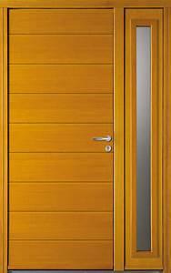 Porte D Entrée En Bois Moderne : porte entree bois moderne ~ Nature-et-papiers.com Idées de Décoration
