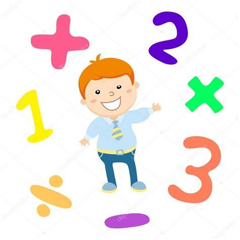 Cartoon style math learning game illustration