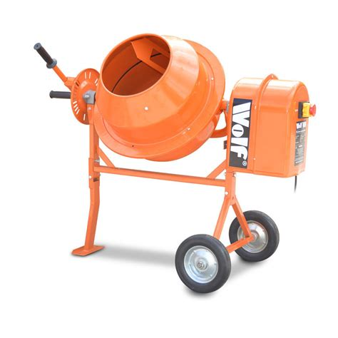 cement mixer wolf 50l concrete mixer 375w electric cement mortar plaster sand mixer portable ebay