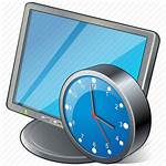 Clock Desktop Computer Icon Monitor Display Screen
