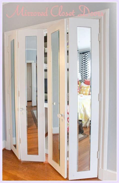 mirrored closet doors  pinterest closet door