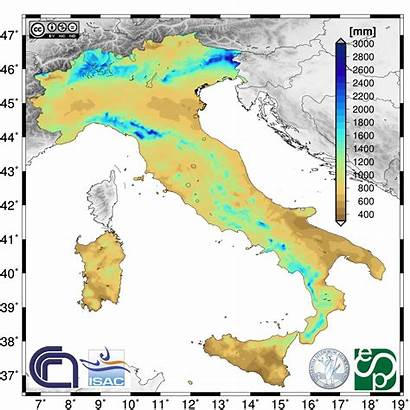 Precipitation Italy Annual Data Climate Climatology
