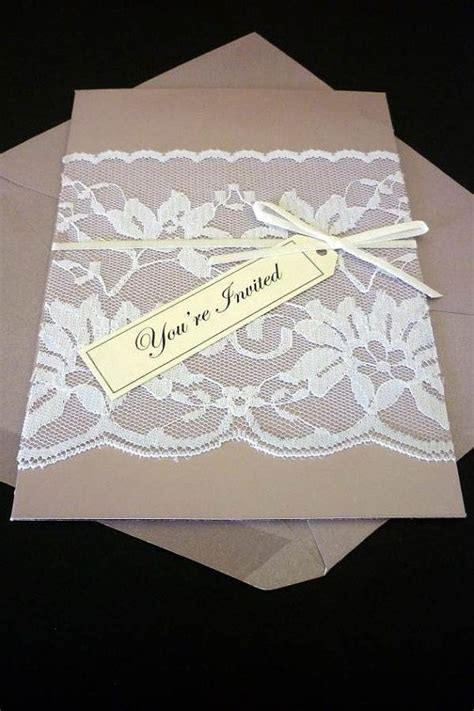 invitation idea invitation card  lace overlay