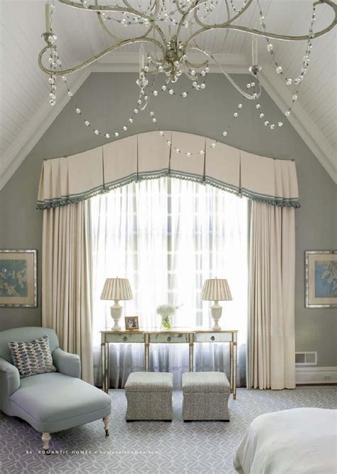 Bedroom Valances by Classical Bedroom Curtain Curved Window Treatments