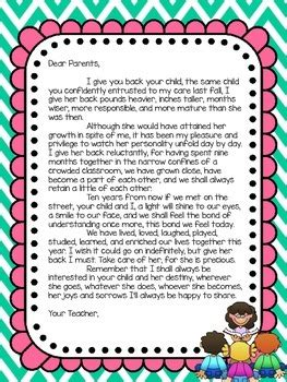 end of the year letter to parents from end of year letter to parents by obseussed with teaching tpt 22349