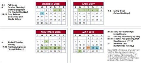 gwinnett county school calendar world printable chart