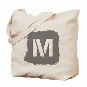 initial letter m tote bag by saqtalarlia2 With letter tote bag
