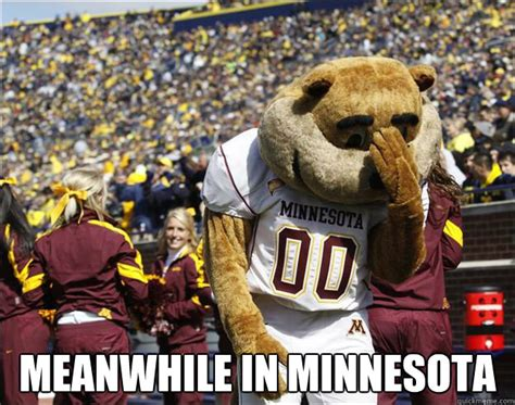 Gopher Meme - meanwhile in minnesota disillusioned gopher quickmeme