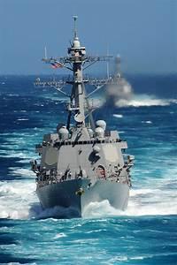 PACIFIC OCEAN (May 18, 2011) The Arleigh Burke-class ...