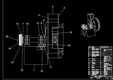 fan blower medium pressure dwg section  autocad