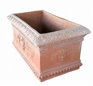 Pflanzkübel Terracotta Eckig : term hlen terracotta impruneta eckiger terracotta kasten mit antiken ornamenten ~ Orissabook.com Haus und Dekorationen