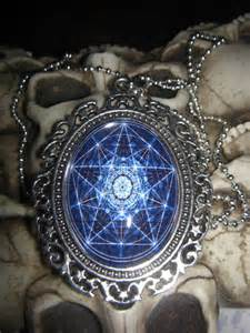 Wiccan Star Necklace Cabochon