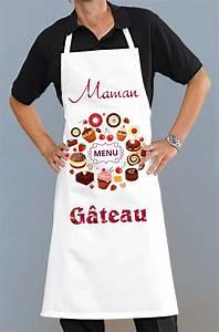 Tablier De Cuisine Femme : tablier de cuisine maman gateaux pour femme cadeau pour la cuisine ~ Teatrodelosmanantiales.com Idées de Décoration