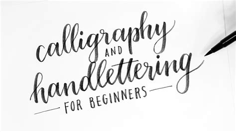 calligraphy hand lettering  beginners