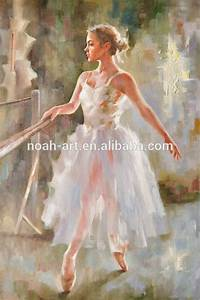 Impressionist Painting Ballet Dancer Wall Art - Buy ...
