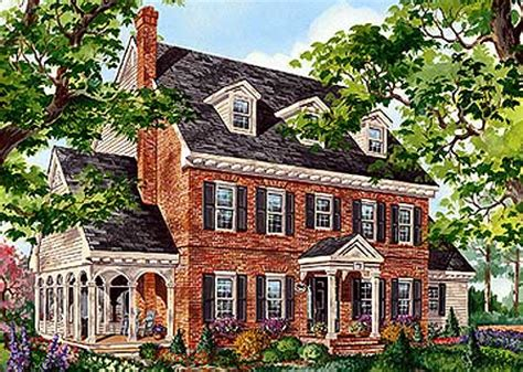 brick colonial house plans architectural designs