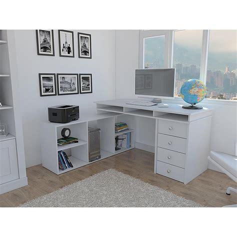 white corner desk houston white l shaped corner desk with 4 drawers elb2603