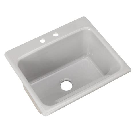 thermocast kensington drop in acrylic 25 in 2 hole single