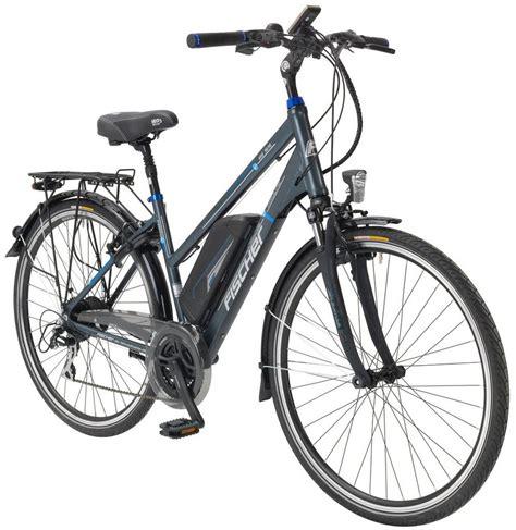 e bike trekking fischer fahrraeder e bike trekking damen 187 etd 1616 171 28 zoll 24 heckmotor 418 wh