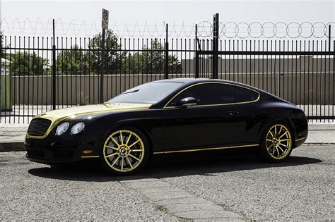 gold bentley making fort knox jealous with a set of gold flangiato s