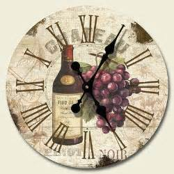 new grapes wine wall clock kitchen tuscany decor