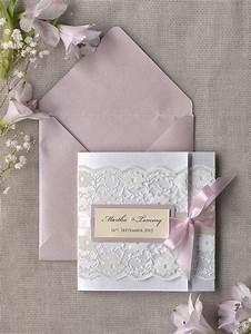 Custom listing 100 pink lace wedding invitation ivory for Custom pocket wedding invitations online