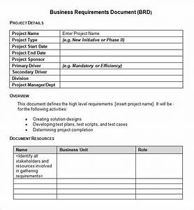 Sample business requirements document 6 free documents for New job documents required