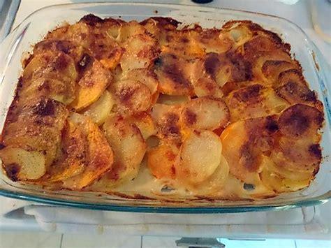 recette de gratin de pomme de terre et patate douce