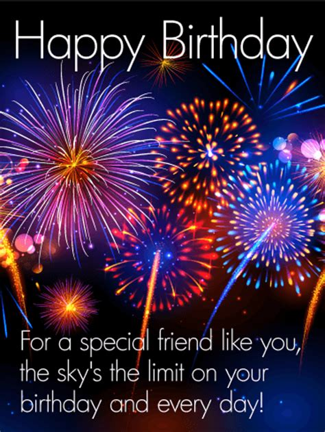special friend happy birthday card birthday