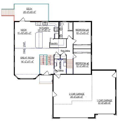 bi level house floor plans bi level house plan with a bonus room 2010542 by e designs