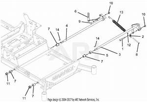 Gravely 992236  030000 - 039999  Pro-turn 460 Parts Diagram For Deck Lift