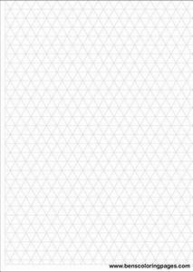 Printable Isometric Grid With Large Boxes For Simple
