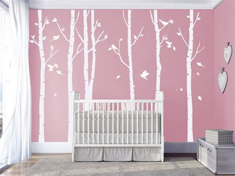 Kinderzimmer Gestalten Wandtattoo by Wanddeko Wei 223 E Birke Wandtattoos Kinderzimmer Wandtattoo