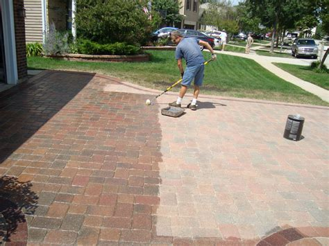 brick paver patio cleaning sealing brick paver sidewalk