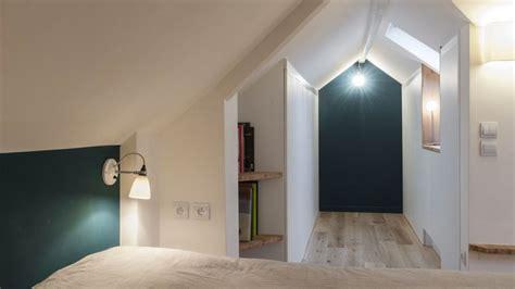 idee chambre parentale avec salle de bain mezzanine chambre sous pente